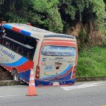 Bus de Occidental se accidentó en Chinchiná